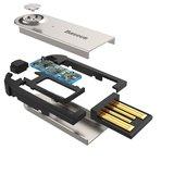 Baseus BA01 Adaptateur de dongle de musique sans fil Bluetooth USB - Appel mains libres noir_