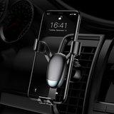 Support de téléphone portable Baseus mini ventilation de climatisation pour smartphone - Noir_