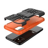Hybride standaard case shockproof hoesje iPhone 11 - Oranje_
