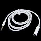 Câble d'extension audio blanc 1 mètre 3,5 mm fiche câble audio_