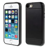 Etui Titulaire de la Carte Secret iPhone 5 5s SE Hardcase - Portefeuille - Portefeuille - Noir_