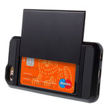 Étui rigide pour iPhone 6 Plus 6s Plus avec passeport secret - Portefeuille - Portefeuille - Noir_