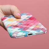 Coque rigide à échelles colorées pour iPhone 7 Plus 8 Plus_