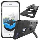 Béquille Armor Noir Gris iPhone 7 Plus 8 Plus_