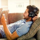 BTH-818 Casque d'écoute stéréo sans fil Bluetooth sans fil - Microphone noir_