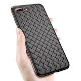Étui en TPU tissé Baseus Weaving Case pour iPhone 7 Plus 8 Plus - Noir_