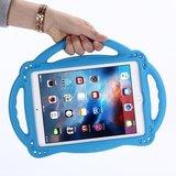 Étui iPad Air 2 et iPad 2017 2018 Amortisseur EVA adapté aux enfants - Bleu 3 poignées_