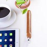 Housse en cuir pour Apple Pencil - Marron_