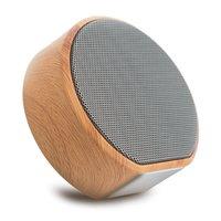 Haut-parleur sans fil Bluetooth à texture bois A60 - Mini subwoofer gris