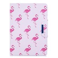 Étui à rabat en cuir Flamingo standard iPad 2017 2018 - Blanc Rose