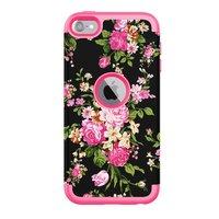 Armor Flower Case pour iPod Touch 5 6 7 - Fleurs colorées