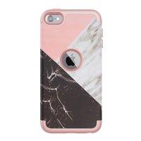 Armor Case Marble Case pour iPod Touch 5 6 7 - Rose et blanc