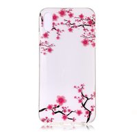 Coque transparente iPhone X XS TPU Blossom - Fleurs roses