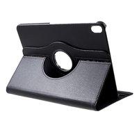 Étui en cuir Litchi Grain rotatif standard iPad Pro 11 pouces 2018 - Noir