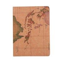 Étui en cuir carte du monde pour iPad Pro 11 pouces 2018 avec couvercle rotatif standard marron