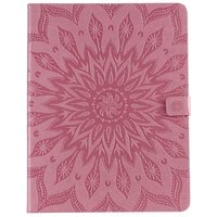 Étui portefeuille en cuir pour iPad Pro 12,9 pouces 2018 avec impression tournesol - Rose