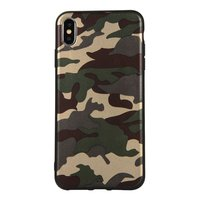 Coque Camouflage TPU Camo Army iPhone XS Max - Vert Armée
