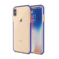 Coque de protection colorée pour iPhone XS Max Coque arrière TPE TPU - Bleu