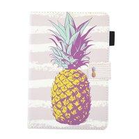Étui à rabat en ananas pour ananas Housse en cuir pour iPad mini 1 2 3 4 5 - Rose clair Blanc