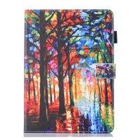Forêt peinture artistique étui en cuir flip housse de protection iPad mini 1 2 3 4 5 - coloré