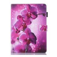 Etui à rabat pour fleur d'orchidée iPad mini 1 2 3 4 5 - Violet Rose