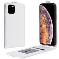 Etui Portefeuille Vertical en Similicuir Flip pour iPhone 11 Pro Max - Blanc