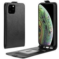 Étui portefeuille en similicuir à rabat vertical pour iPhone 11 Pro - Noir