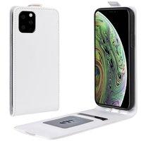Étui portefeuille en similicuir à rabat vertical pour iPhone 11 Pro - Blanc