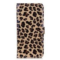 Etui portefeuille panthère bibliothèque léopard iPhone 11 Pro - Marron