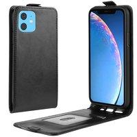 Etui portefeuille en similicuir Flip vertical pour l'iPhone 11 - Noir