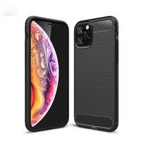 Coque de protection Carbon Armor TPU antichoc iPhone 11 Pro - Noir