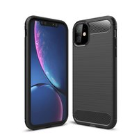 Coque de protection Carbon Armor TPU antichoc iPhone 11 - Noir