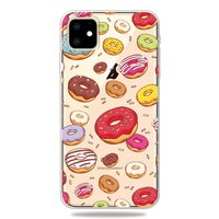 Coque iPhone 11 en TPU Merry Flexible Donuts - Transparente