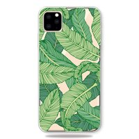 Coque iPhone 11 Pro Max TPU Nature Green Leaves Banana Plant Jungle - Transparente
