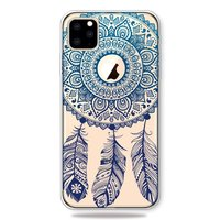 Coque iPhone 11 Pro Dreamcatcher Mandala Web Blue Feathers Spiritual Case - Transparente