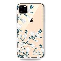 Coque Fleurie Blanche TPU Blossom iPhone 11 Pro - Transparente