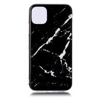 Étui noir en pierre naturelle avec motif en marbre iPhone 11 Pro