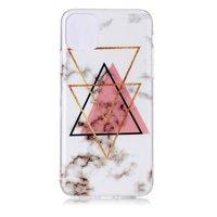 Coque en TPU pour iPhone 11 Pro Max en forme de triangle en or rose