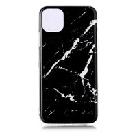 Coque iPhone 11 Pro Max Marble Pattern Pierre Naturelle Noire