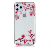 Fleurs Rose Branches Nature Case Case TPU iPhone 11 Pro Max Transparent