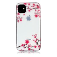 Coque Nature Fleurs Branches Rose TPU iPhone 11 - Transparente