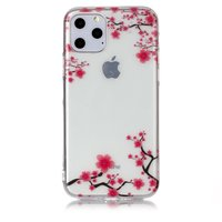 Coque Nature Fleurs Branches Rose TPU iPhone 11 Pro - Transparente