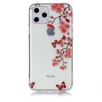 Coque iPhone 6 Pro en TPU pour iPhone 11 Pro - Transparent Flower Floral Butterflies - Transparent
