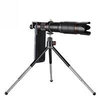 Télescope téléobjectif HD 4K 36X Zoom pour votre téléphone + trépied - Noir