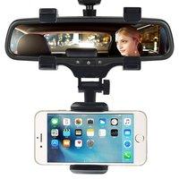 Support universel avec pince pour les smartphones iPhone Auto Car Mirror
