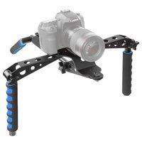 Caméra pliable stabilisateur RIG appareil photo reflex numérique trépied d'épaule en aluminium