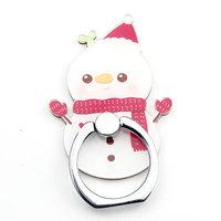 Support de bague porte-doigt d'hiver pour smartphone - bonhomme de neige