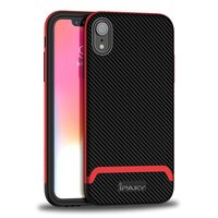 Coque iPhone XR iPaky Bumblebee Hybride Polycarbonate TPU - Rouge