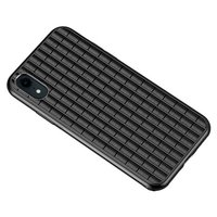 iPaky Waffle Housse de protection TPU Case iPhone XR - Noir