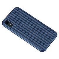 iPaky Waffle Housse de protection TPU Case iPhone XR - Bleu